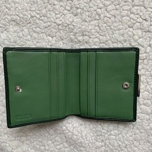 Coach Bags - Coach Green Leather Purse With Matching Wallet